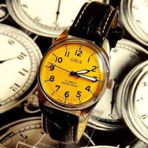 Vintage FHFST96 Yellow Dial Manual Winding Watch